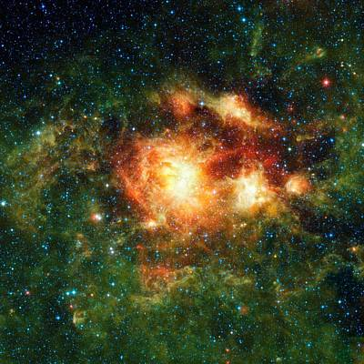 Star-birth Region, Space Telescope Image Art Print by Nasajpl-caltechucla