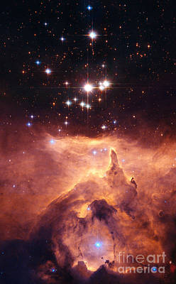 Photograph - Star Cluster Pismis 24 by Nasa