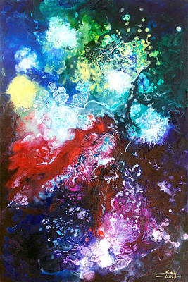 Star Clusters Art Print by Sally Trace