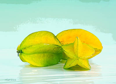 Digital Art - Star Fruit by Michelle Wiarda
