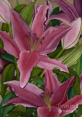 Painting - Star Gazer Lilies by Vikki Wicks