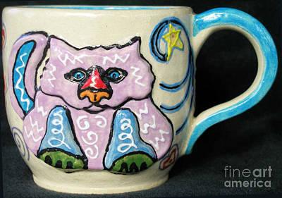 Star Kitty Mug Art Print by Joyce Jackson