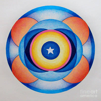 Visionary Drawing - Star Mandala by Brian  Commerford