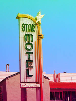 Photograph - Star Motel Retro Sign by Kathleen Grace