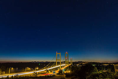 Star Night Over The Narrows Art Print by Ken Stanback