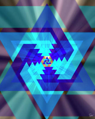Photograph - Star Of David 1 by Endre Balogh