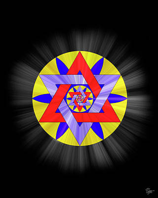 Photograph - Star Of David Two by Endre Balogh