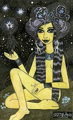 Star Princess Art Print by Bethy Williams