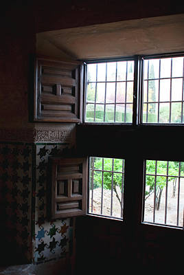 Photograph - Star Tiled Window by Lorraine Devon Wilke