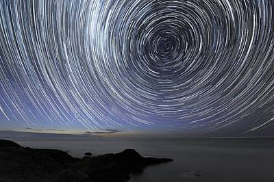 Moonlit Night Photograph - Star Trails Over Flinders, Australia by Alex Cherney, Terrastro.com