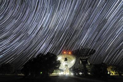 Star Trails Over Parkes Observatory Art Print by Alex Cherney, Terrastro.com