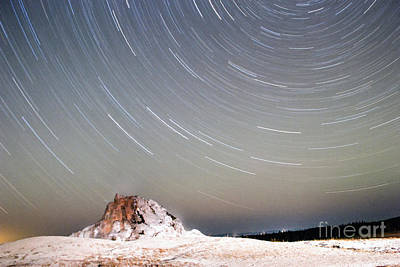 Photograph - Star Trails Over White Dome Geyser by Katie LaSalle-Lowery