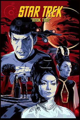 Science Fiction Paintings - Star Trek Amok Time by Garth Glazier