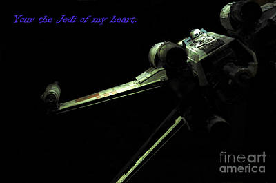Jet Star Photograph - Star Wars Card by Micah May