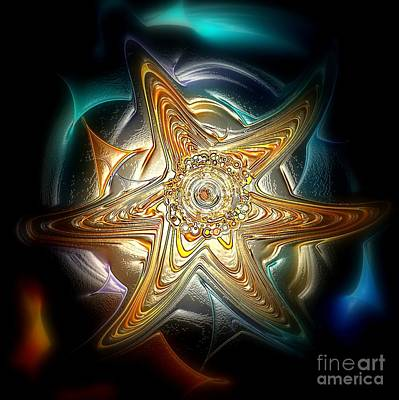 Abstract Design Digital Art - Starfish by Klara Acel