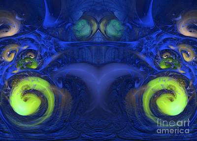 Digital Art - Starman - Abstract Digital Art by Sipo Liimatainen