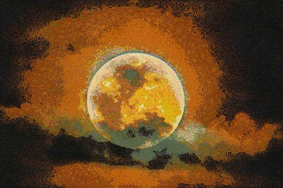 Photograph - Starry Moon by Nicholas Evans