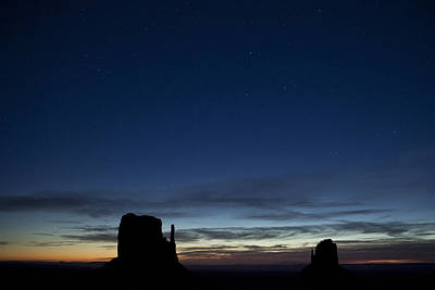 Country Scene Photograph - Starry Skies In The West by Andrew Soundarajan