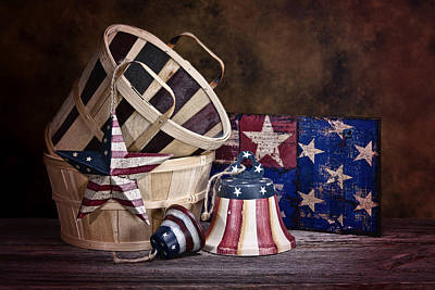Baskets Photograph - Stars And Stripes Still Life by Tom Mc Nemar