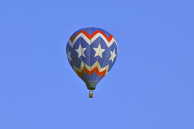 Photograph - Stars Hot Air Balloon by Helen Haw