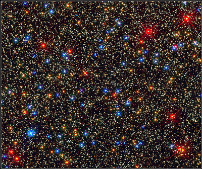 Stars In The Omega Centauri Globular Art Print