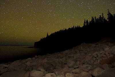 Stars Over Otter Cliffs Art Print by Brent L Ander