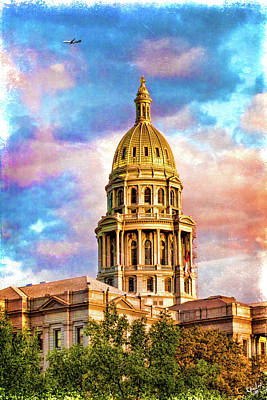 Photograph - State Capitol At Sunset In Denver Colorado  by Chris Lord