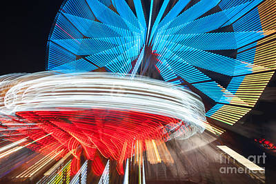 Photograph - State Fair Rides At Night II by Clarence Holmes