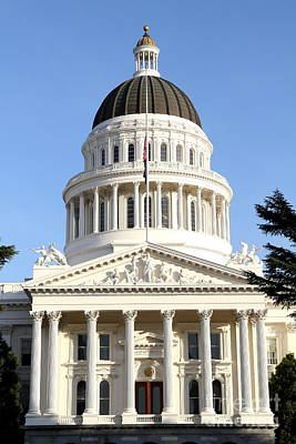 Photograph - State Of California Capitol Building . 7d11738 by Wingsdomain Art and Photography