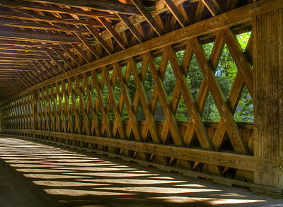 Photograph - State Road Covered Bridge by At Lands End Photography