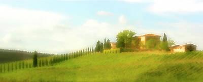 Photograph - Stately Cypress Villa Pastel by Vicki Hone Smith