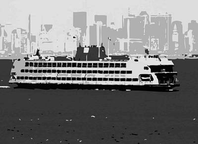 Staten Island Ferry Bw3 Art Print by Scott Kelley
