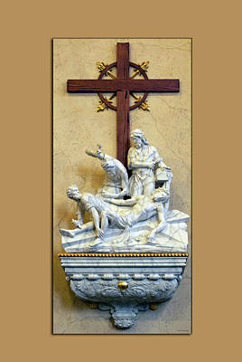 Station Of The Cross 11 Art Print by Thomas Woolworth