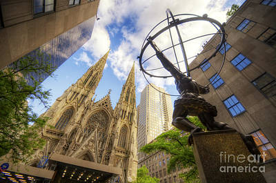 Photograph - Statue And Spires by Yhun Suarez