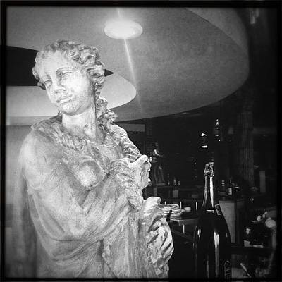 Wine Wall Art - Photograph - Statue And Wine by James Roberts