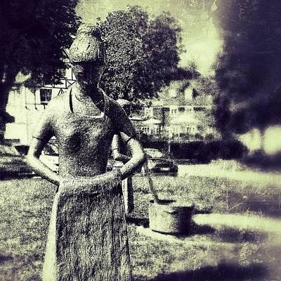 Bronze Wall Art - Photograph - #statue #art  #women #bronze #street by Sascha  Buchholz