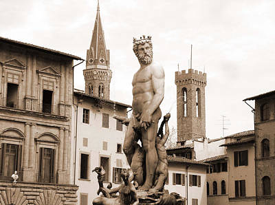 Photograph - Statue At Palazzo Vecchio by Donna Corless