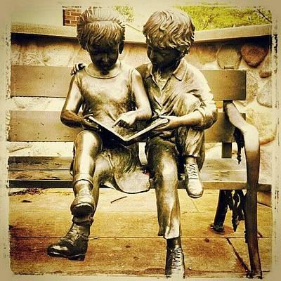 Bronze Wall Art - Photograph - #statue #bronze #park #children by Bryan P