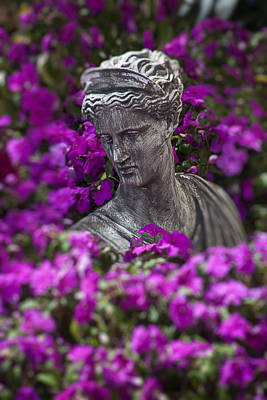 Female Goddess Photograph - Statue In The Garden by Garry Gay