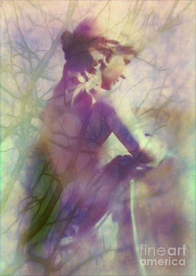 Statue In The Garden Art Print by Judi Bagwell
