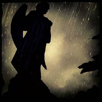 Norfolk Photograph - Statue In The Rain #statue #rain by Invisible Man