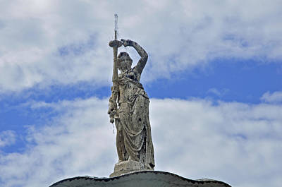 Photograph - Statue In The Sky by Helen Haw