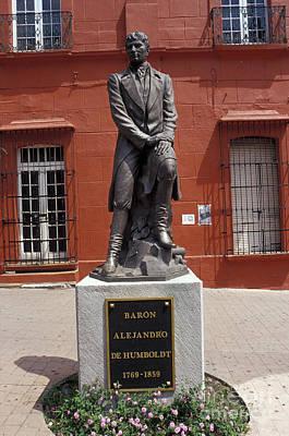 Photograph - Statue Of Alexander Von Humboldt Cuernavaca Mexico by John  Mitchell