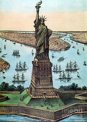 Statue Of Liberty, 1884 Art Print by Photo Researchers