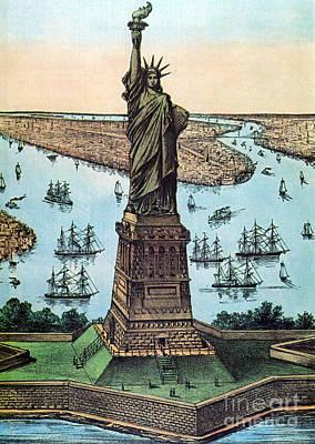 Liberte Photograph - Statue Of Liberty, 1884 by Photo Researchers