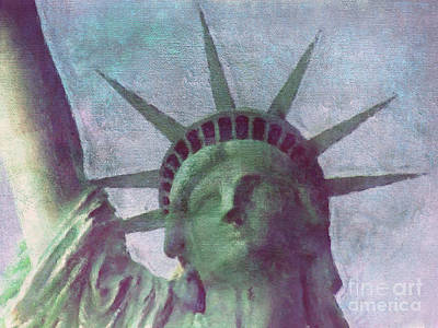 New York Mixed Media - Statue Of Liberty by Angela Doelling AD DESIGN Photo and PhotoArt