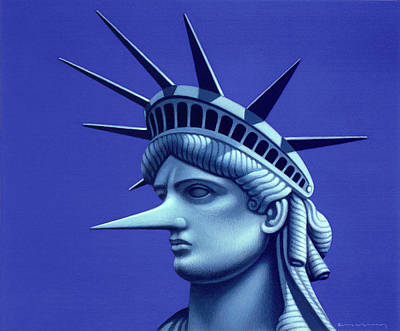 Painting - Statue Of Liberty by Marian Christopher Zacharow