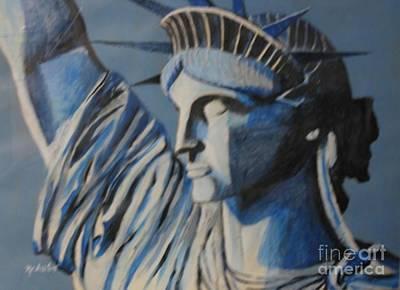Statue Of Liberty Print by Nedunseralathan R