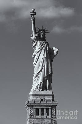 Photograph - Statue Of Liberty V by Clarence Holmes