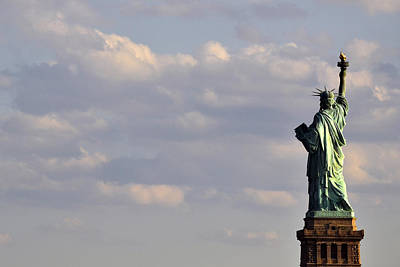 Photograph - Statue Of Liberty by Zawhaus Photography